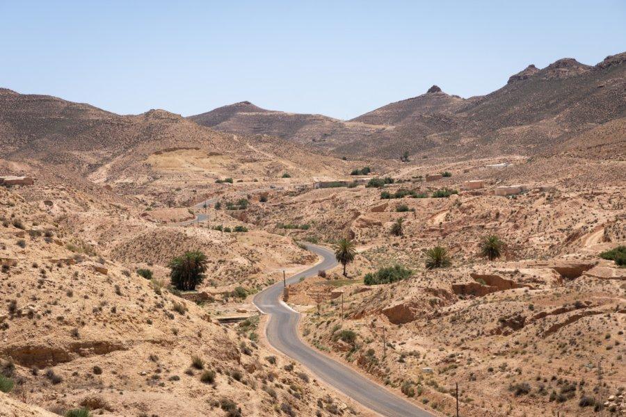Désert de pierres au sud de la Tunisie