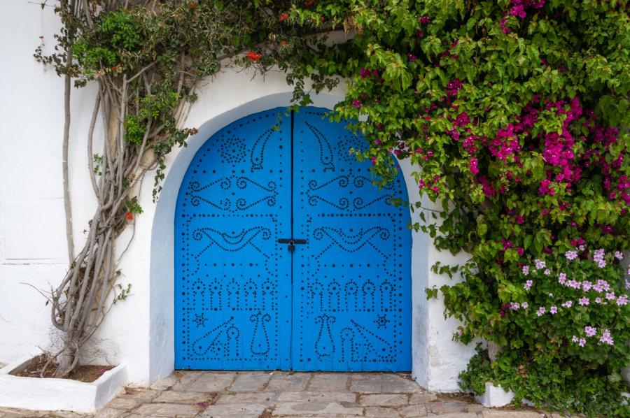 Porte bleue tunisienne