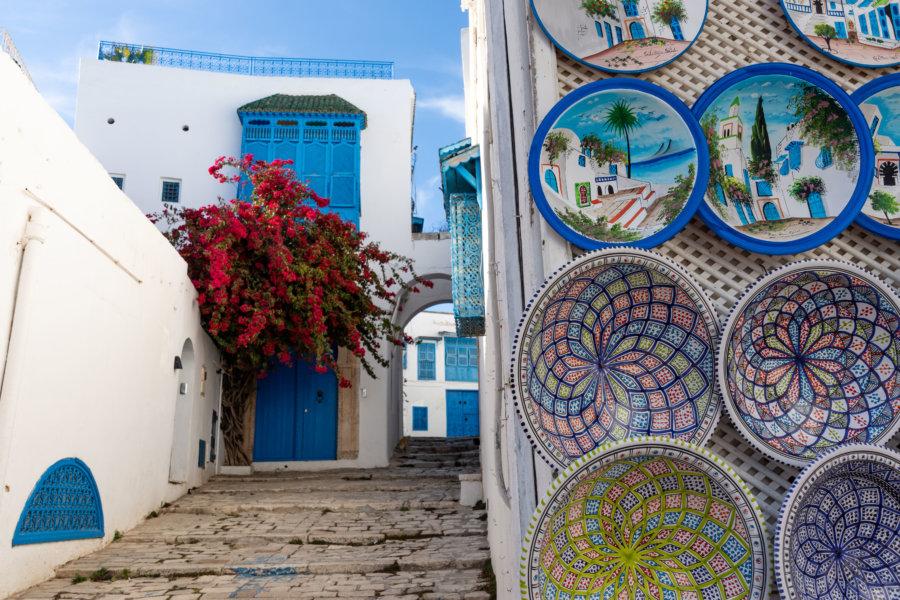 Artisanat à Sidi Bou Saïd, Tunisie