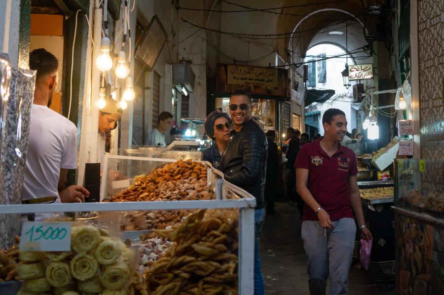 Sucreries au souk de Tunis