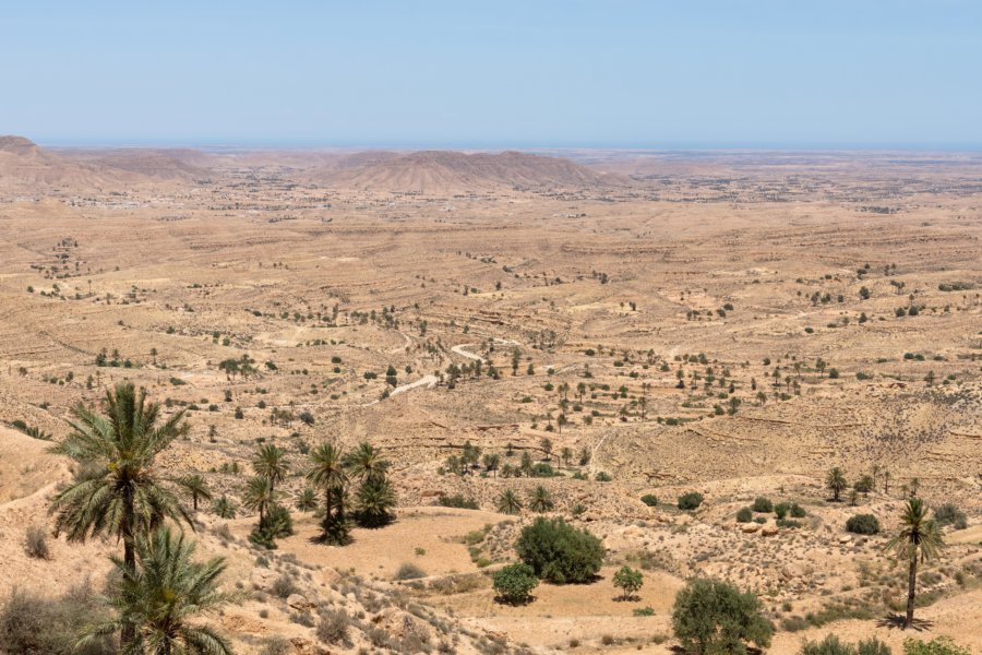 Toujane et la mer, Sud de la Tunisie