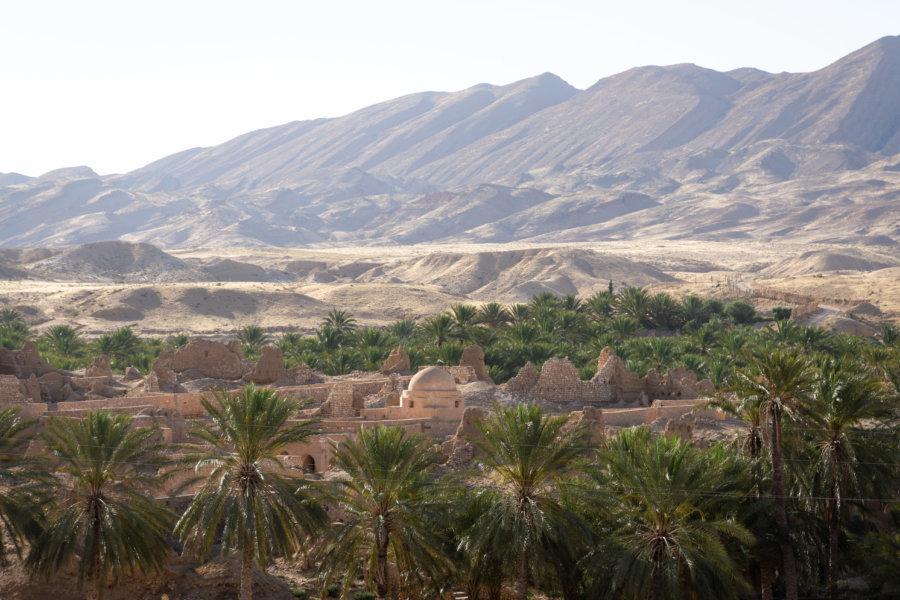 Village de Tamerza en Tunisie