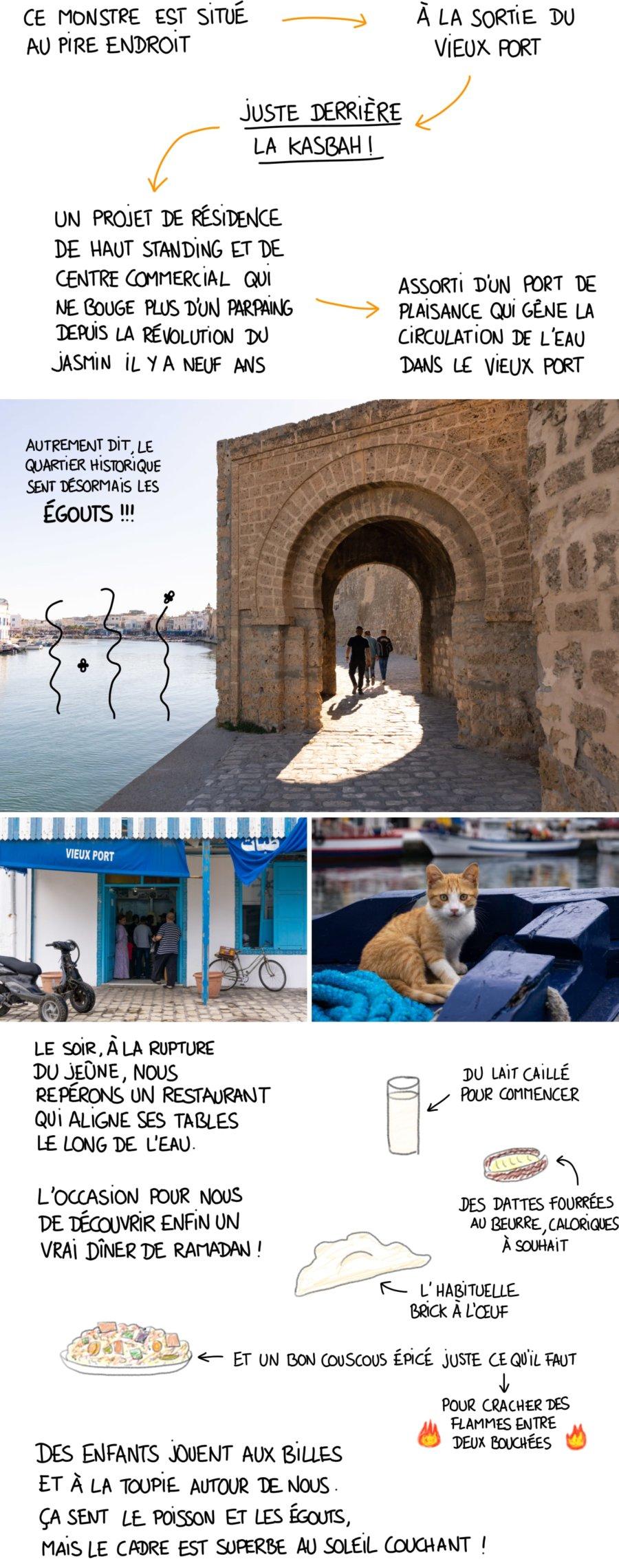 Le vieux port de Bizerte sent les égouts