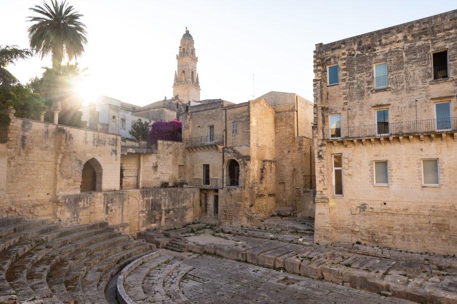 Amphithéâtre de Lecce en Italie
