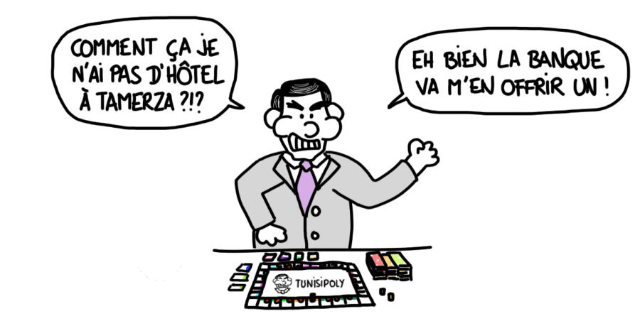 Dessin : Ben Ali joue au Monopoly, le Tunisipoly !