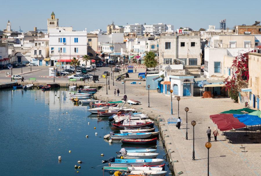 Vieux port de Bizerte en Tunisie