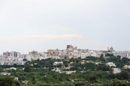 Village blanc de Ceglie Messapica, Italie