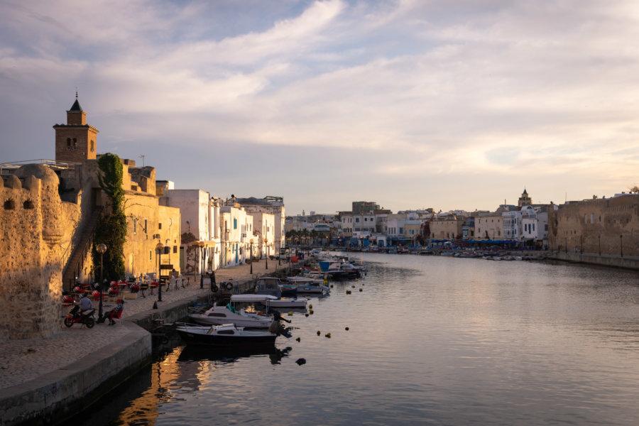 Coucher de soleil à Bizerte en Tunisie