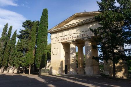 Entrée du cimetière de Lecce, Italie