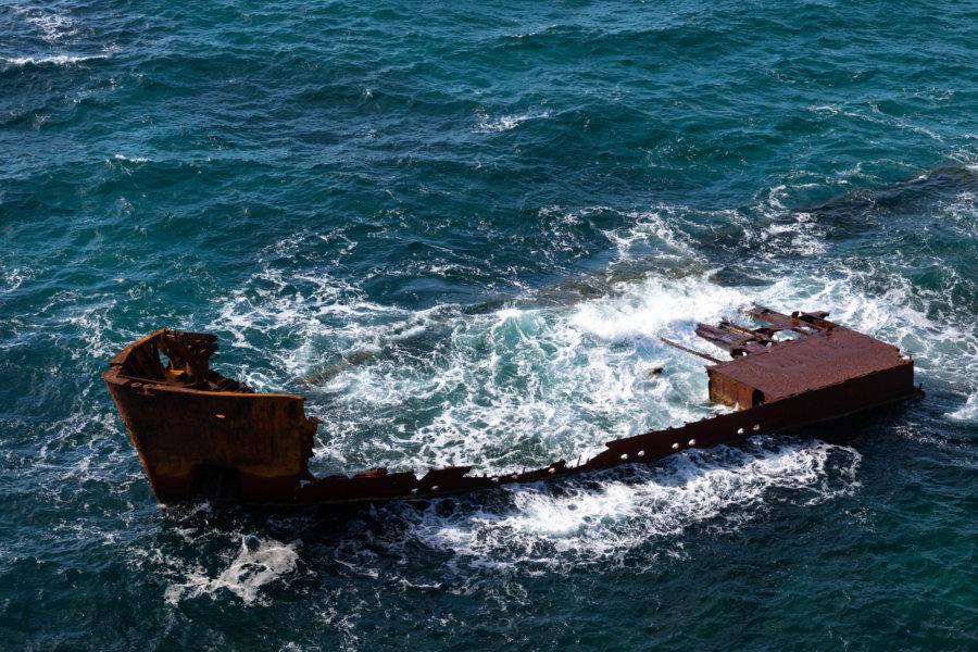 Épave de bateau au Cap Bon, Tunisie