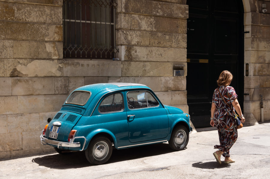 Mini voiture Fiat à Lecce, Pouilles