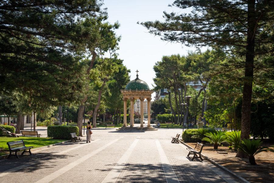 Jardin Villa Comunale à Lecce, Italie