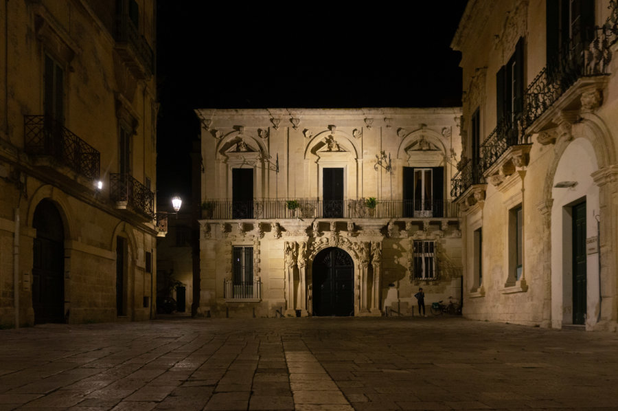 Lecce by night, Italie