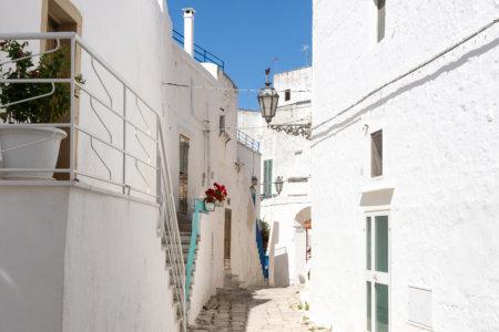 Ostuni, village blanc des Pouilles en Italie