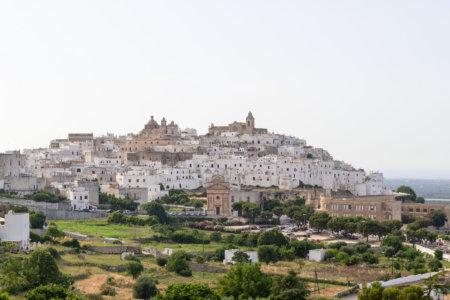 Vue panoramique d'Ostuni en Italie