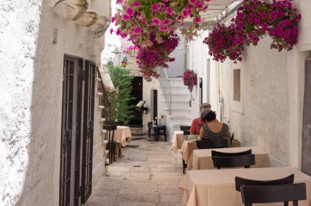 Restaurant à Cisternino en Italie