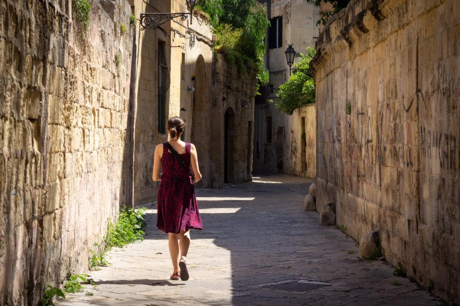 Touriste à Lecce en Italie