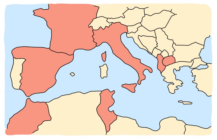 Carte de nos découvertes en Méditerranée en 2019