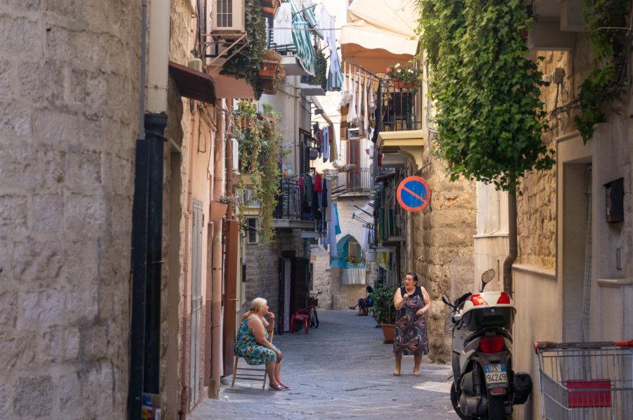 Centre historique de Bari en Italie