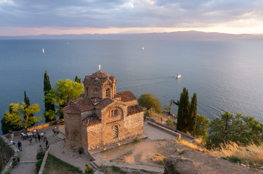 Église au lac d'Ohrid, Macédoine du Nord