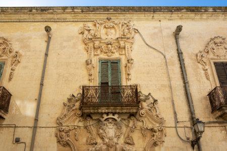 Belle façade à Galatina, Pouilles