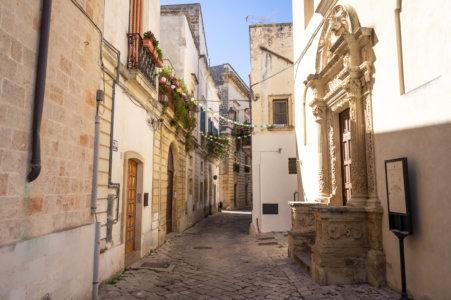 Galatina, ville des Pouilles en Italie du sud