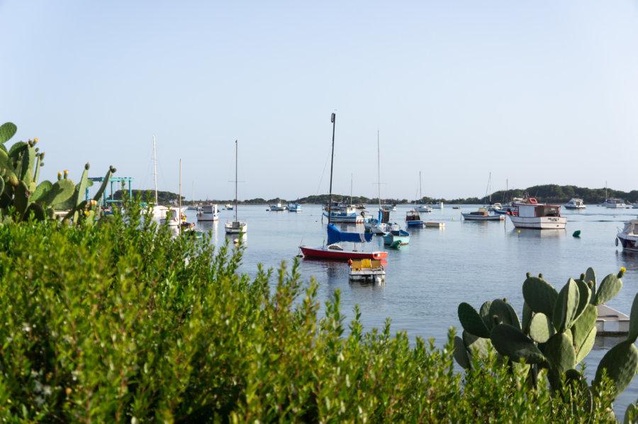 Port de Porto Cesareo, Pouilles, Italie
