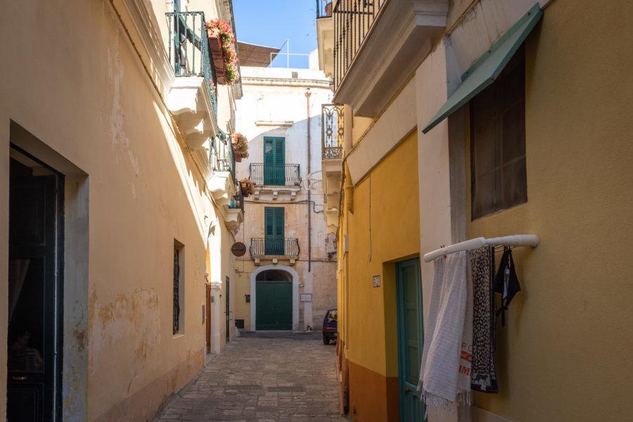 Rue de Gallipoli, Pouilles, Italie