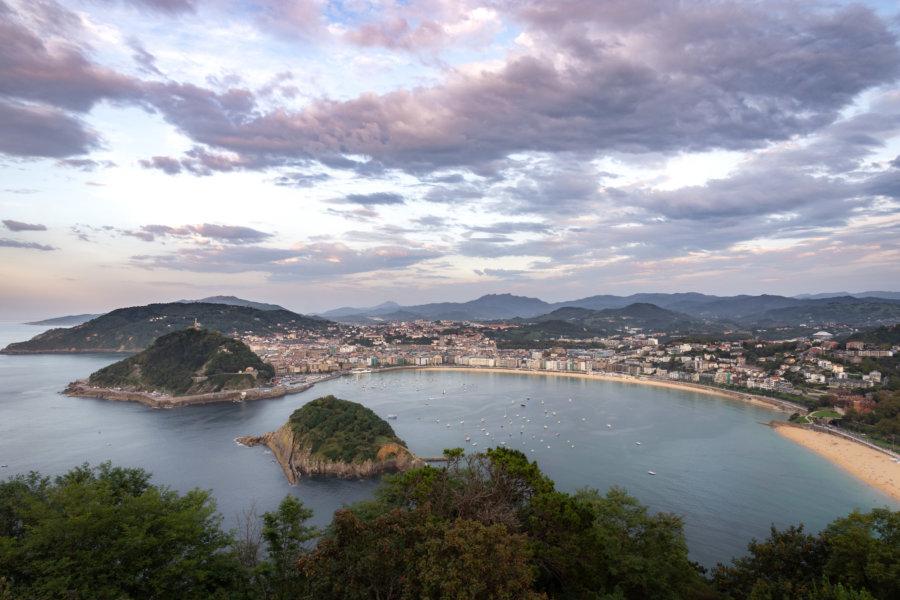 Baie de San Sebastián en Espagne