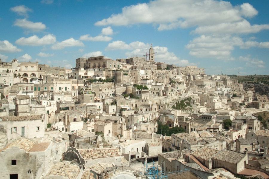 Ville de Matera dans les Pouilles en Italie