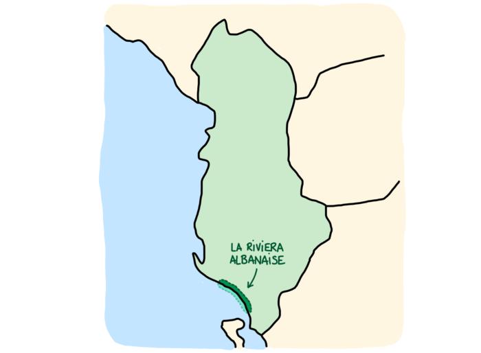 Carte Riviera albanaise