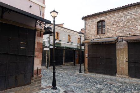 Bazar de Korçë en Albanie