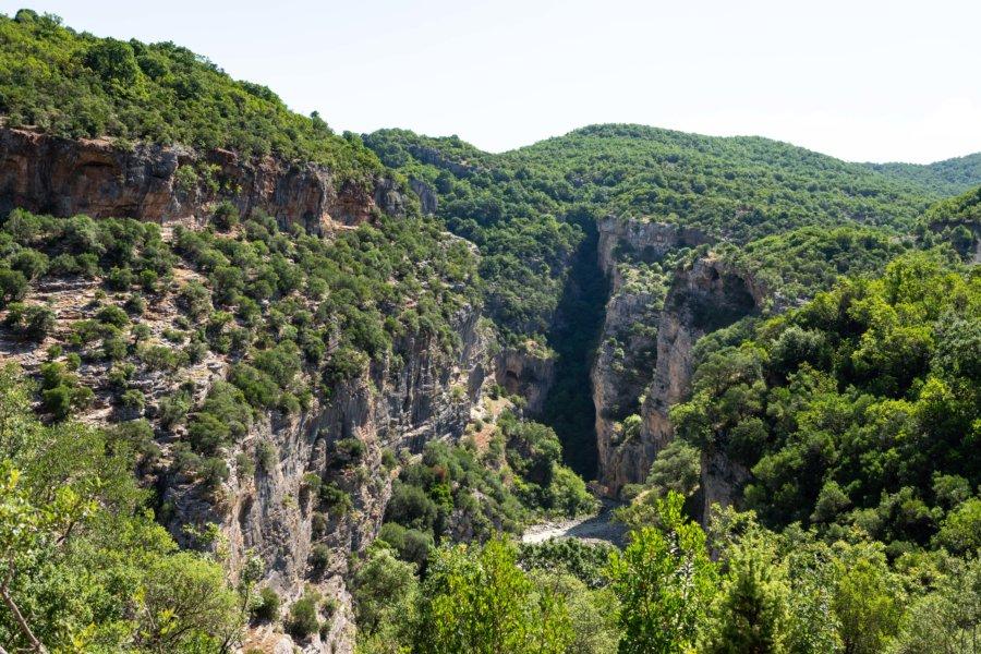 Canyon de Benje, paysage albanais