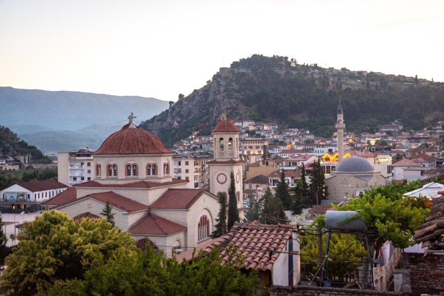 Berat en Albanie : église et mosquée