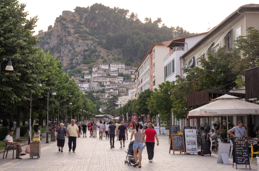 Xhiro à Berat, Albanie