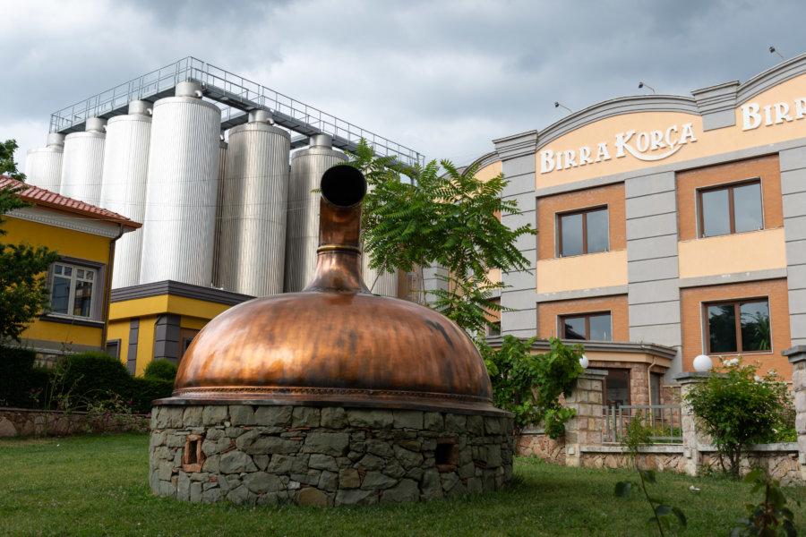 Brasserie Korça en Albanie
