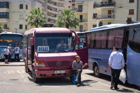 Terminal de bus à Durrës, Albanie
