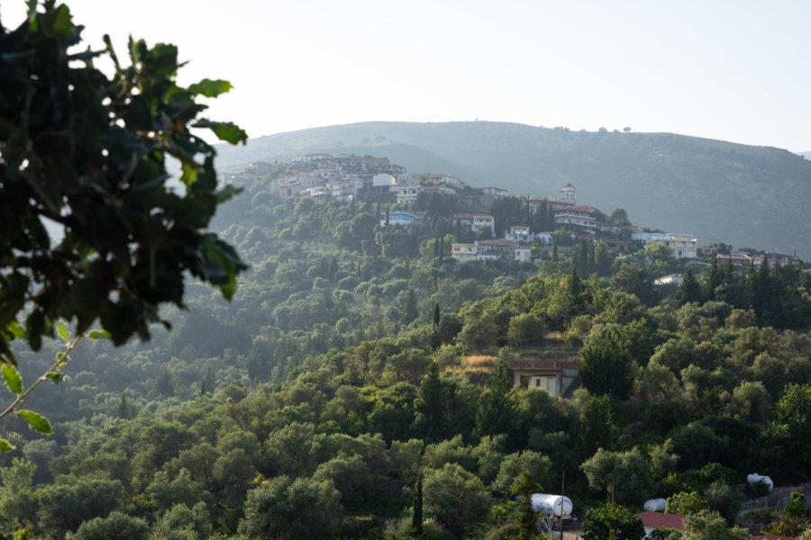 Château d'Himarë sur la colline