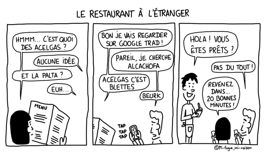 Dessin du lundi : déchiffrer un menu de restaurant étranger...