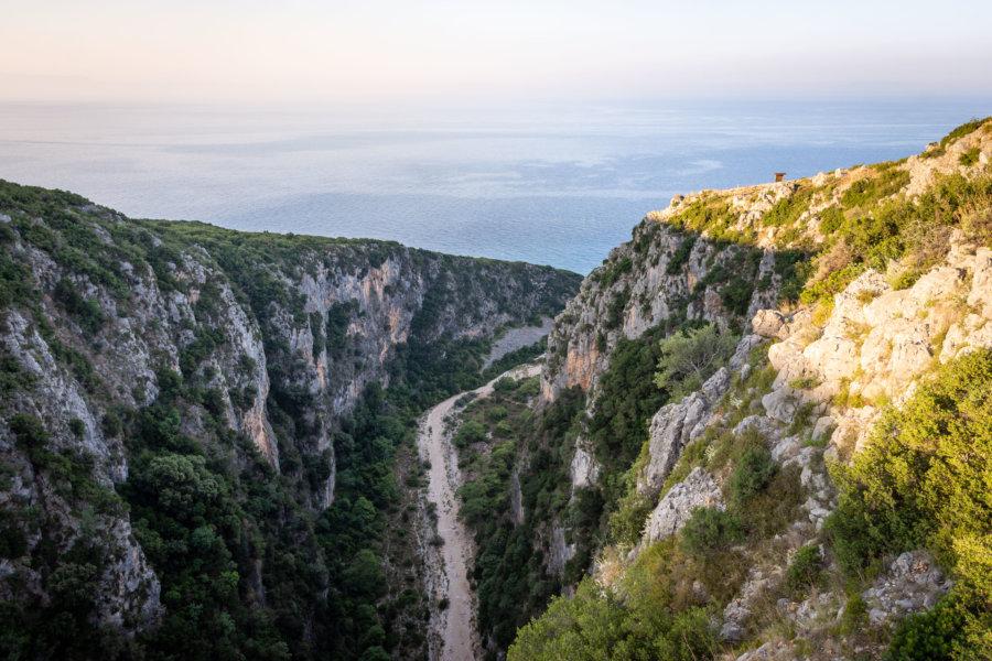 Canyon de Gjipe en Albanie