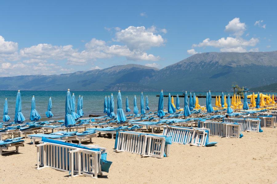 Lido sur la plage de Pogradec en Albanie
