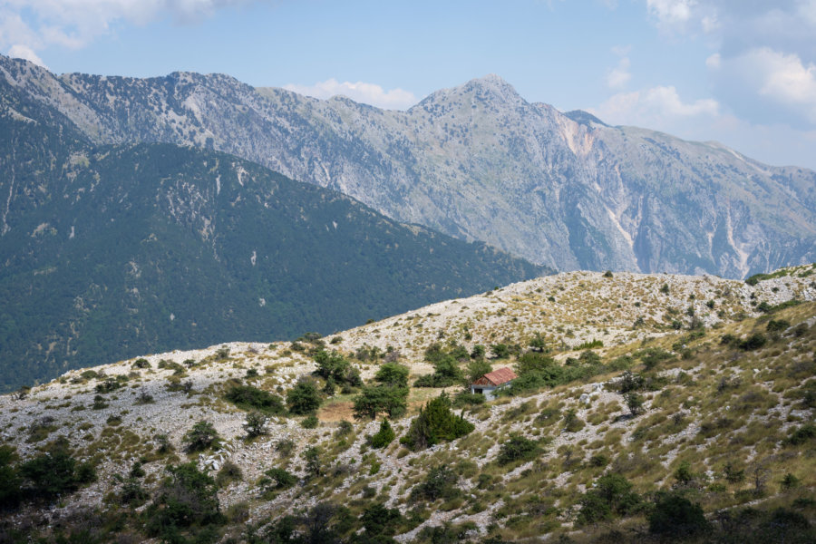 Montagnes de Llogara en Albanie