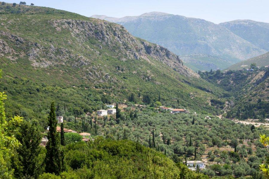 Montagne près de la côte albanaise