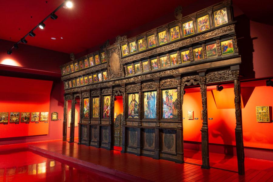 Musée de l'art médiéval à Korçe en Albanie