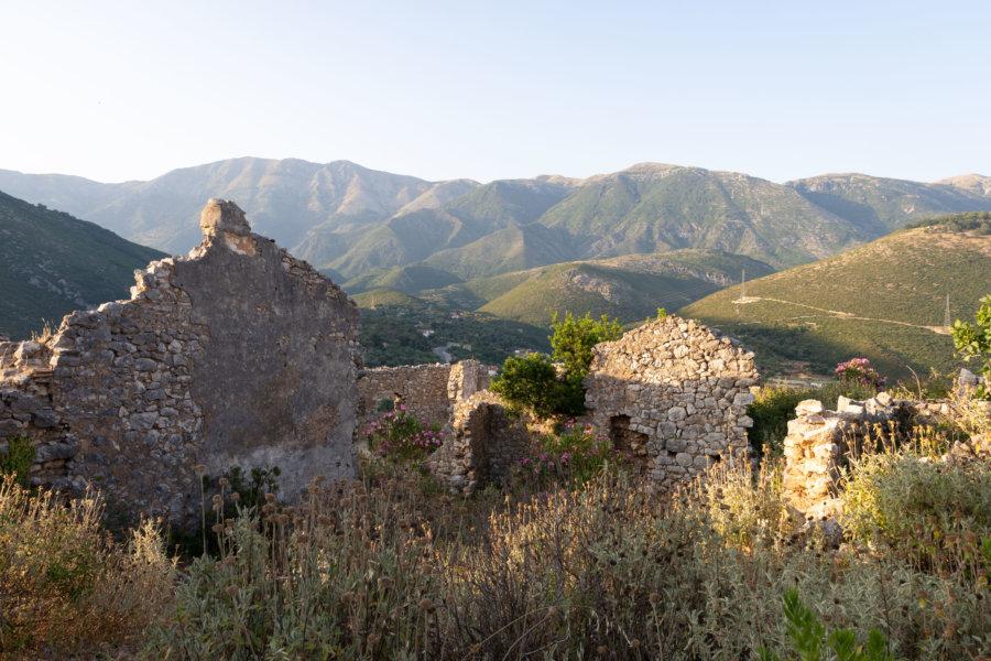 Ruines du vieux Himarë en Albanie