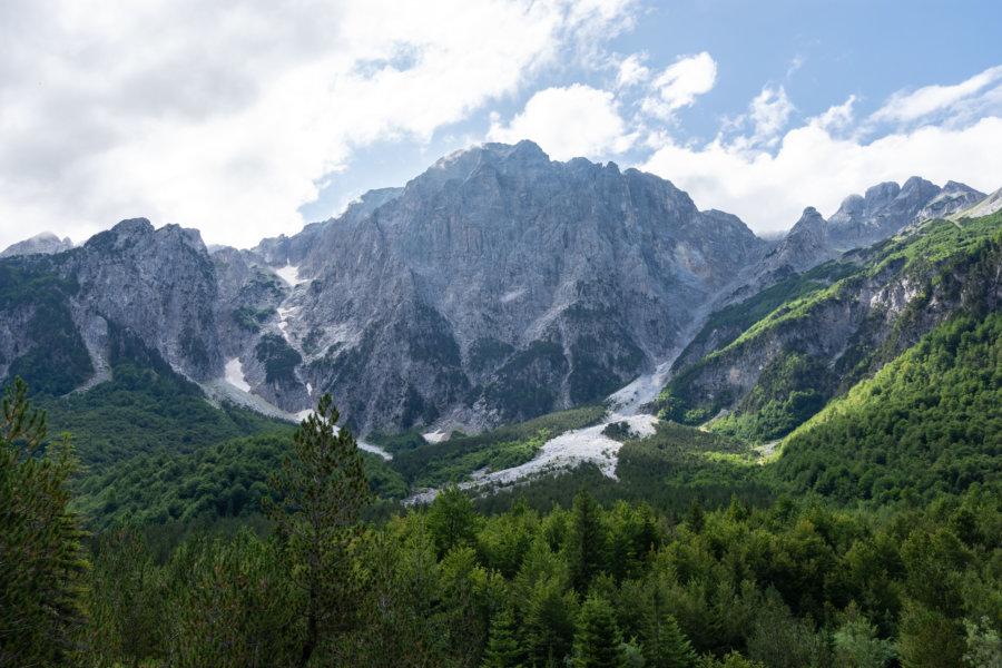 Alpes albanaises entre Valbona et Theth