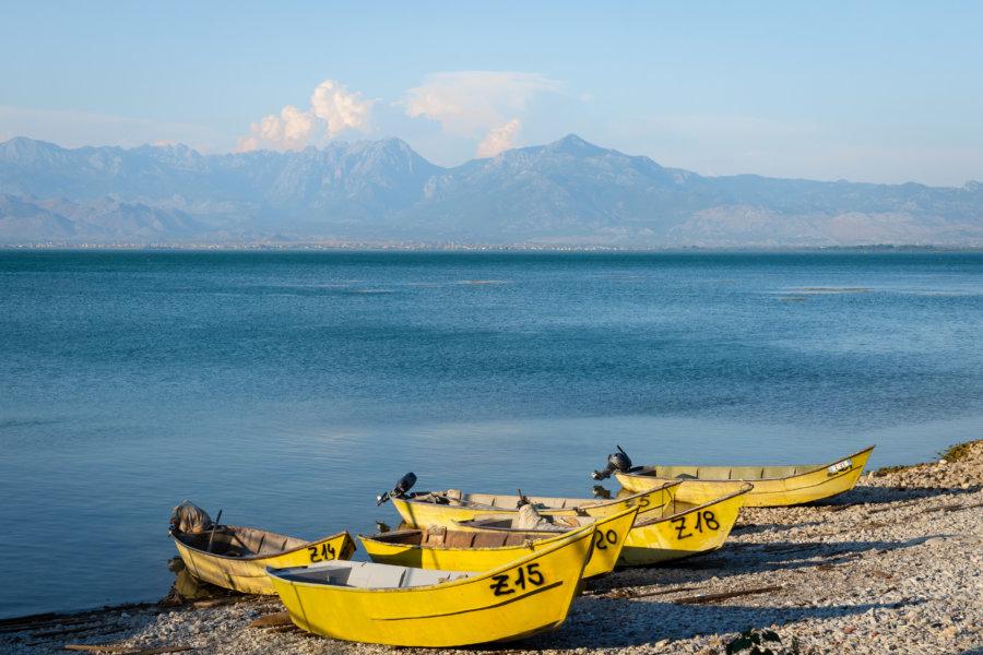 Zogaj et lac de Shkodra en Albanie