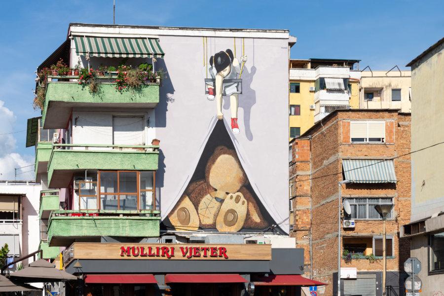 Immeuble à Tirana en Albanie