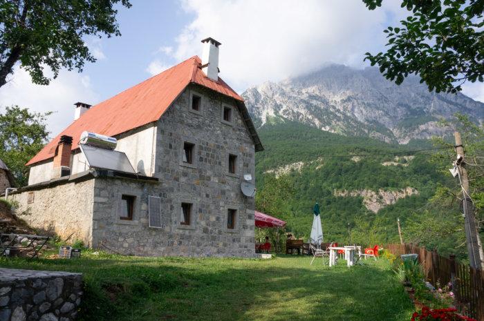Auberge Molla à Theth, Albanie
