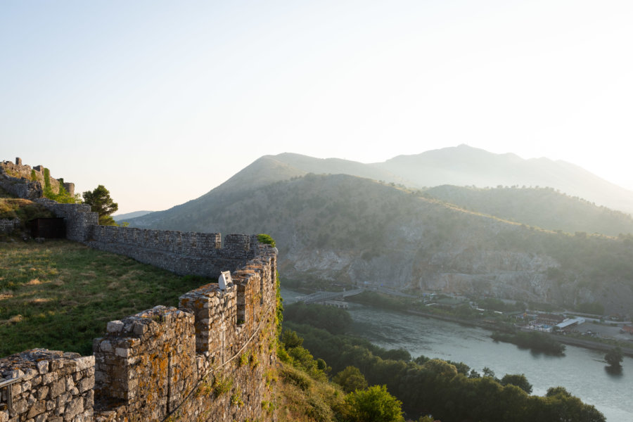 Muraille du château de Shkoder